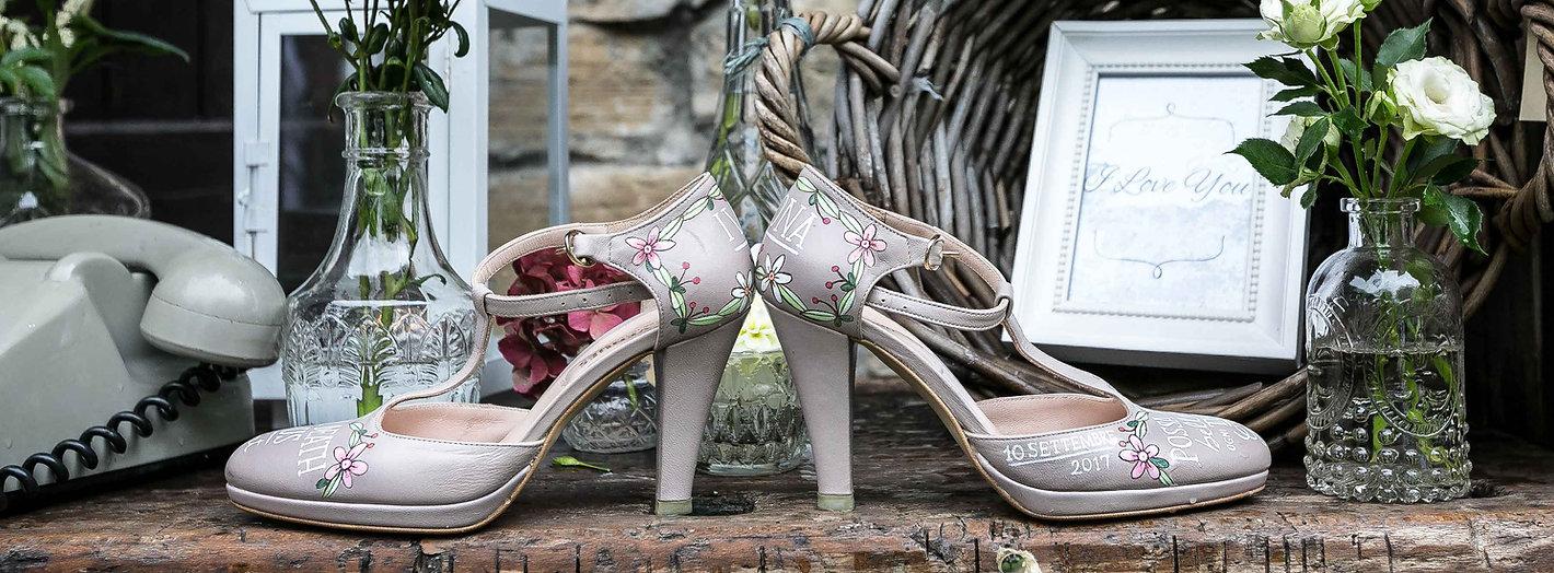 Scarpe da sposa personalizzate Ivan e Simona