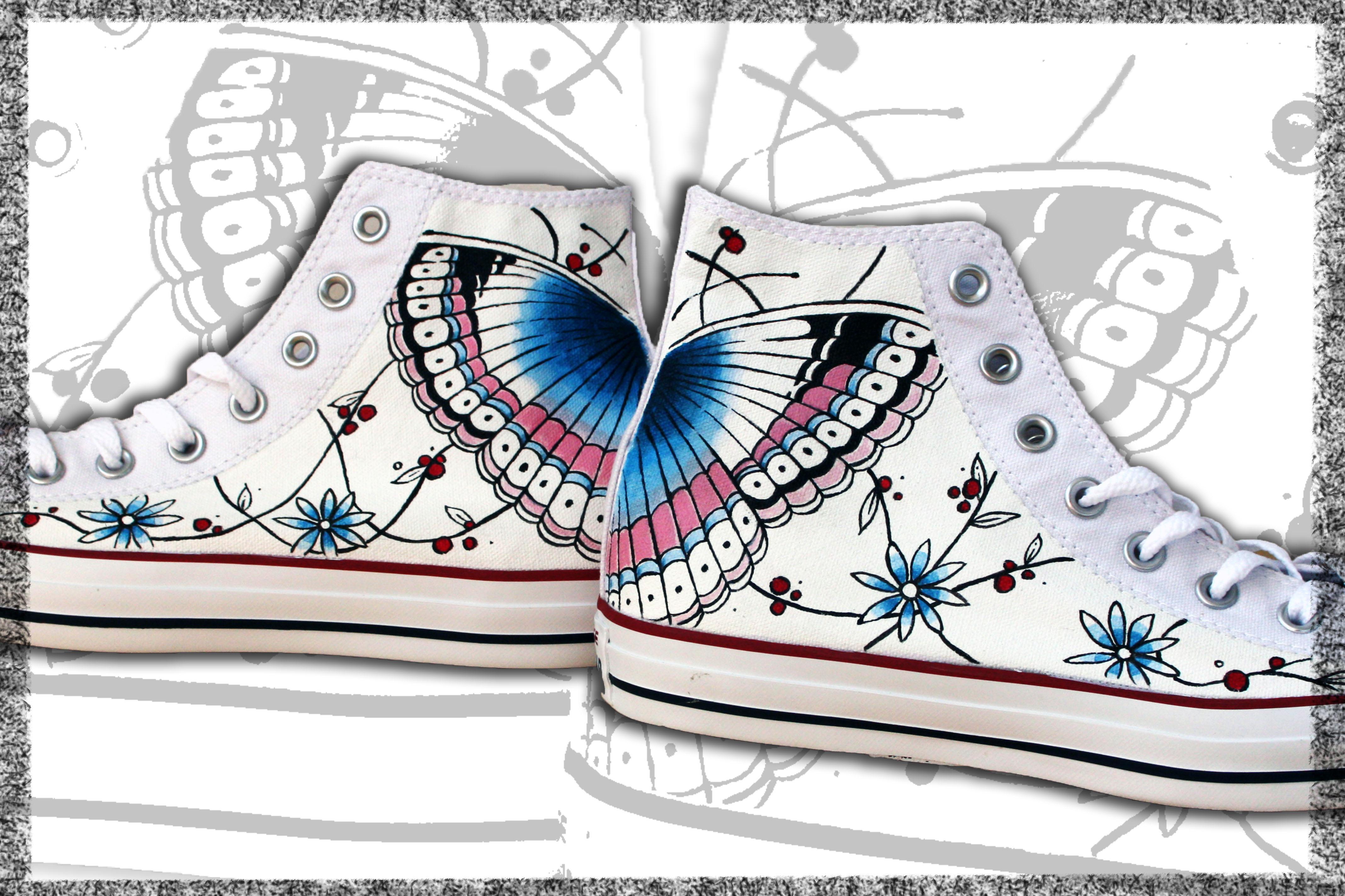 scarpe dipinte a mano