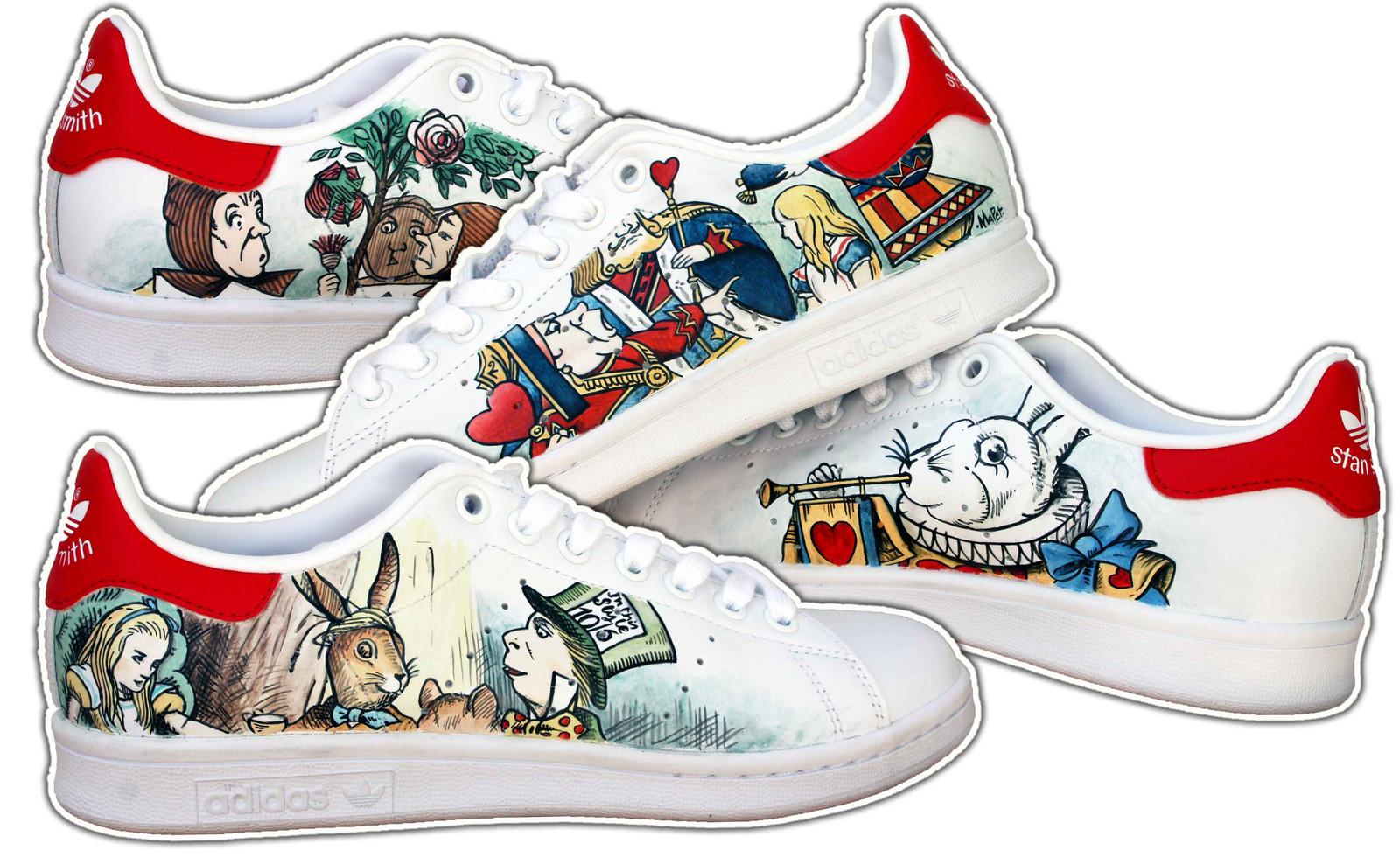 Adidas stan smith alice nel paese delle meraviglie e8ae6a6ed79