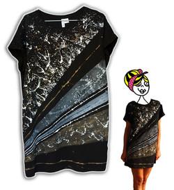 dipinto a mano su t-shirt nera