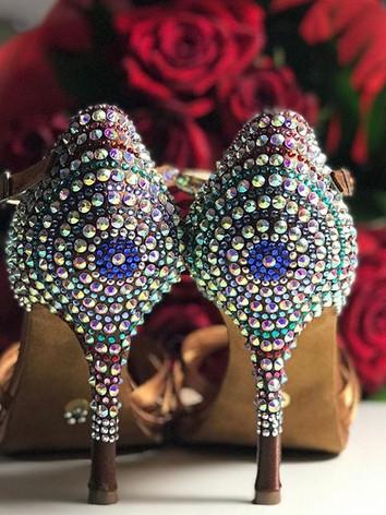 scarpa da ballo con strass