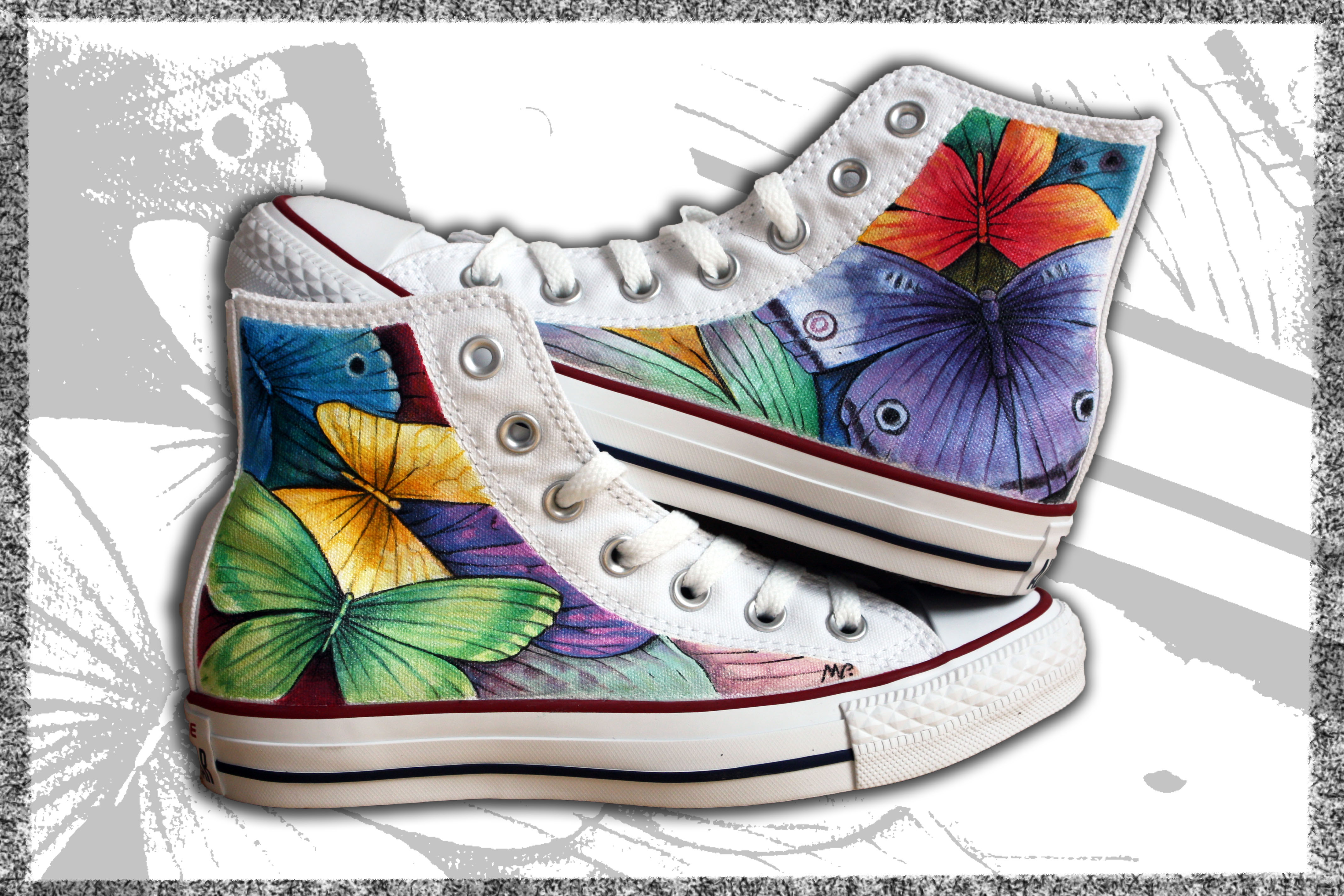scarpe converse dipinte