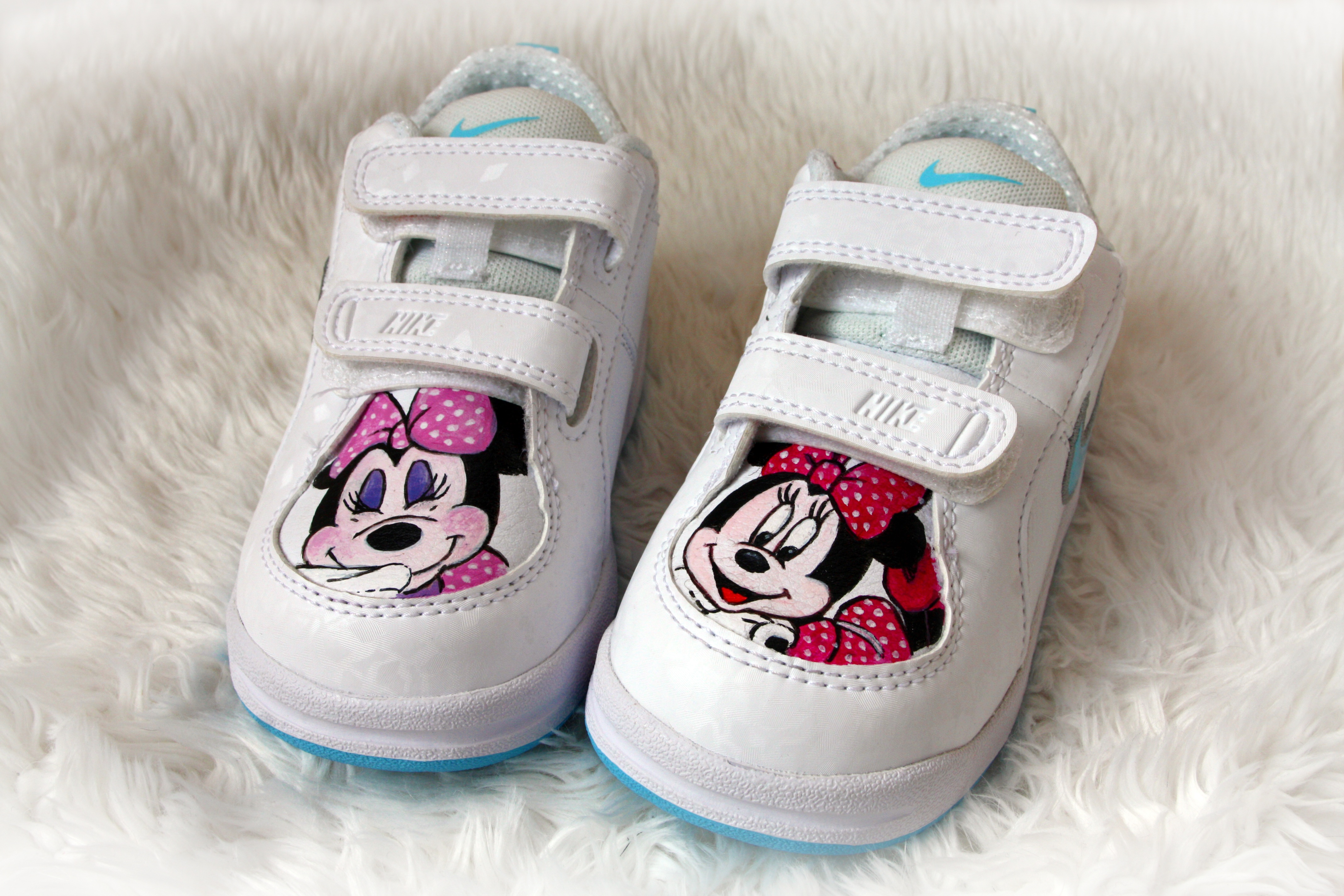 scarpe bimba  dipinte a mano