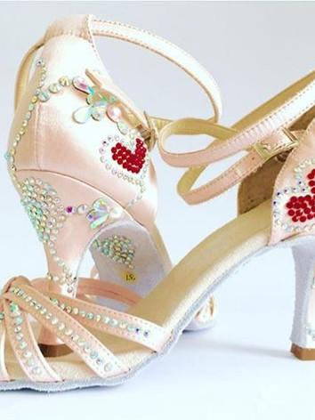 sandalo rosa con cuori di strass