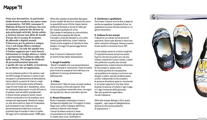articolo di Mappe su scarpe personaizzate MaPet