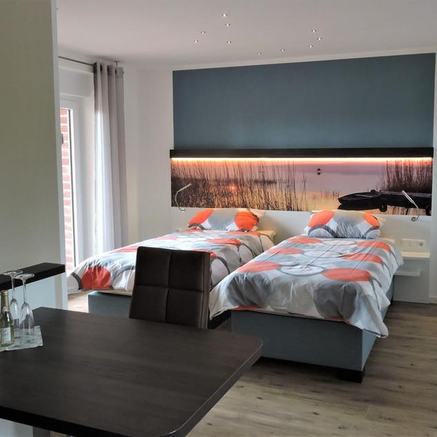 Umbau in zwei Einzelbetten möglich