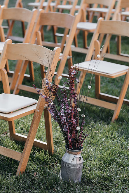 henrik ibsen park redwoods wedding setup decorations