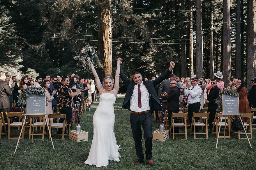 henrik ibsen park redwoods wedding bride and groom