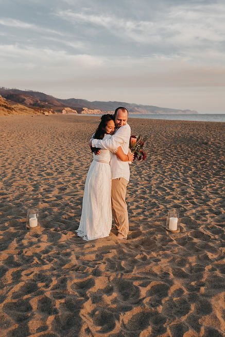 point reyes limantour beach elopement