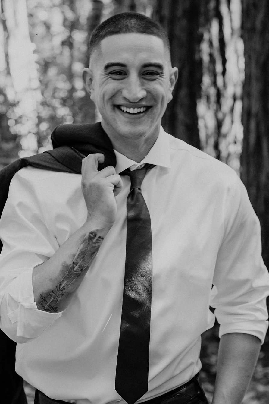 henrik ibsen park redwoods groom portraits