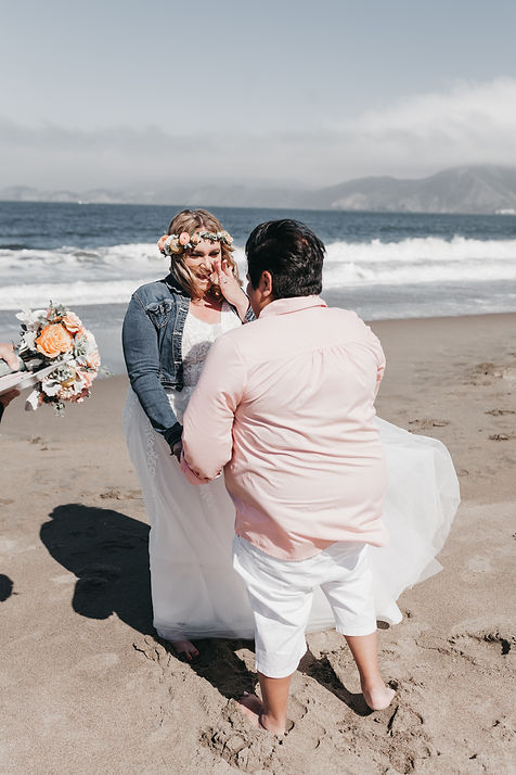 baker beach elopement