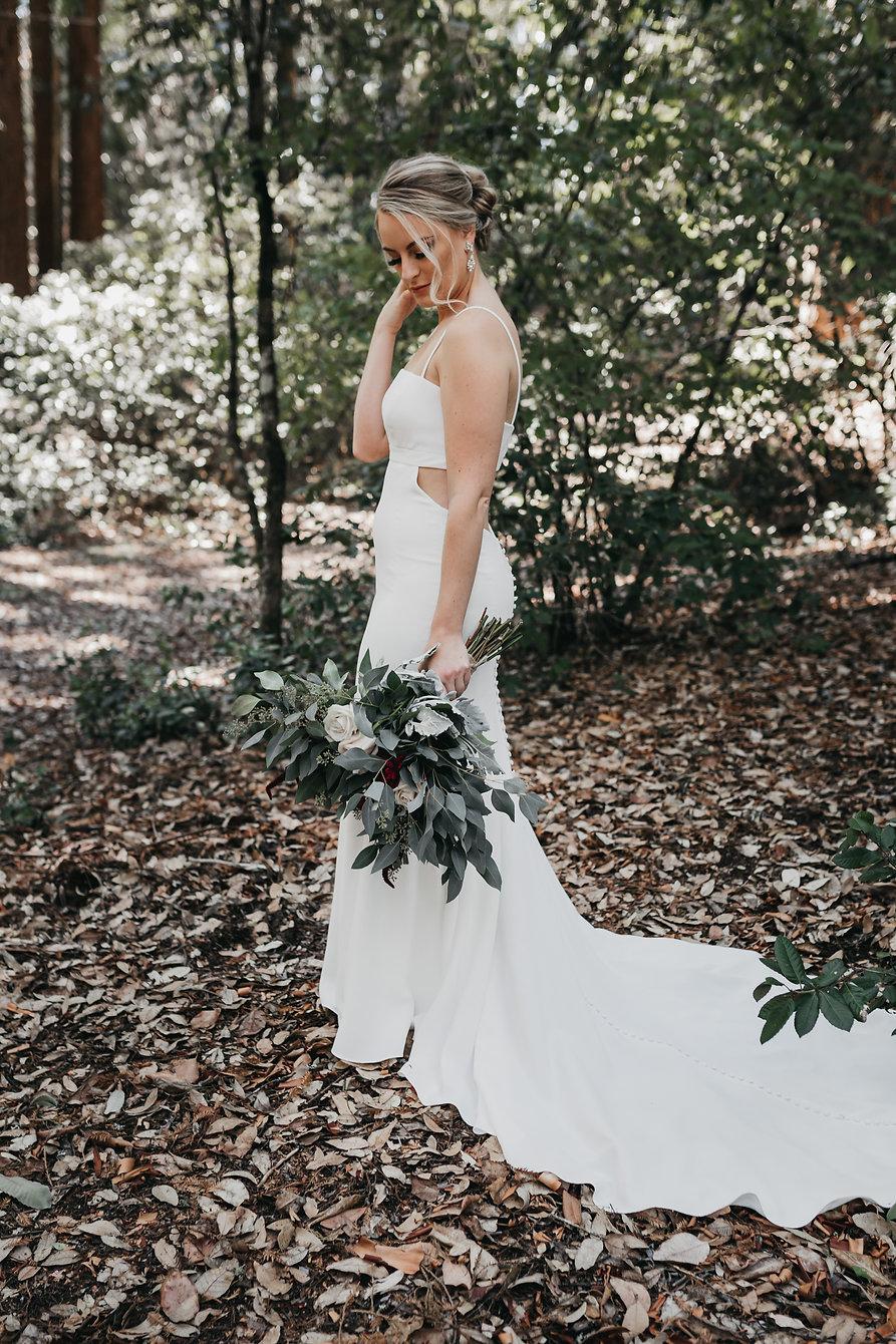 henrik ibsen park redwoods bridal portrait