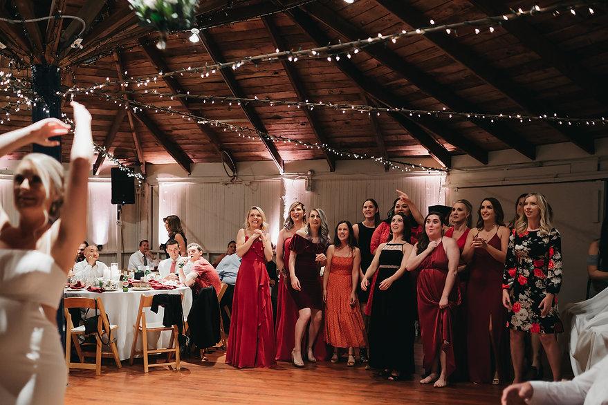 henrik ibsen park wedding reception bouquet toss
