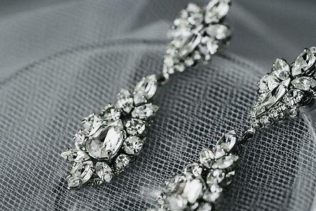 bride's diamond earrings