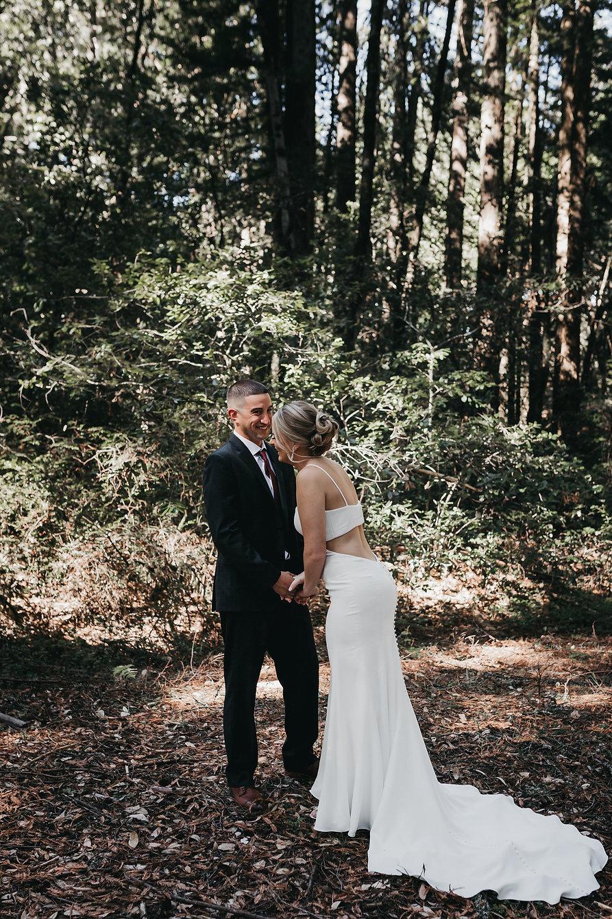 henrik ibsen park redwoods wedding bride and groom portraits
