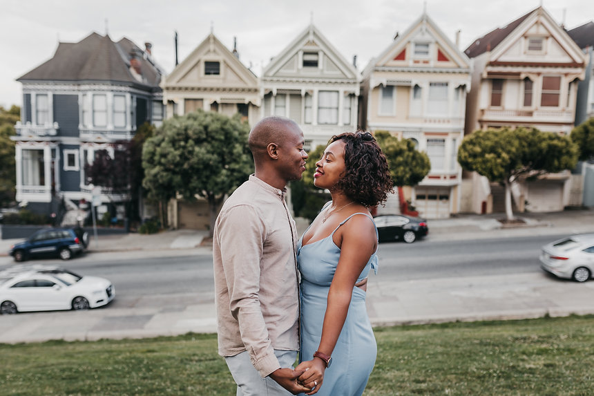 painted ladies engagement session