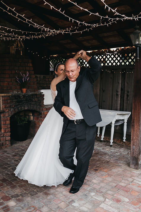 san jose backyard wedding father daughter dance