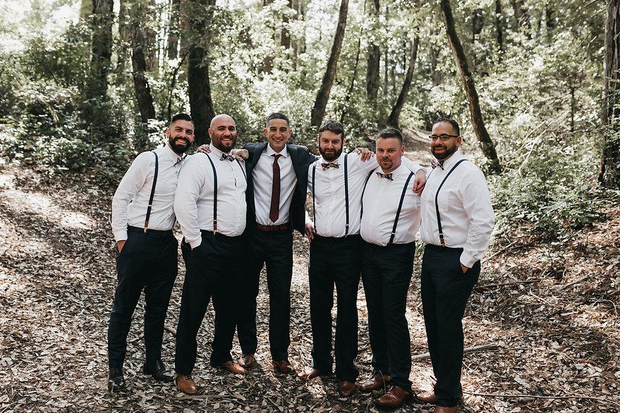 henrik ibsen park redwoods wedding portraits groomsmen