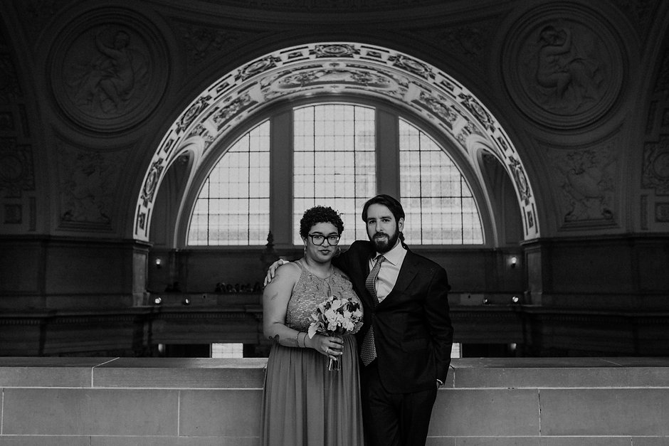 san francisco city hall civil ceremony wedding
