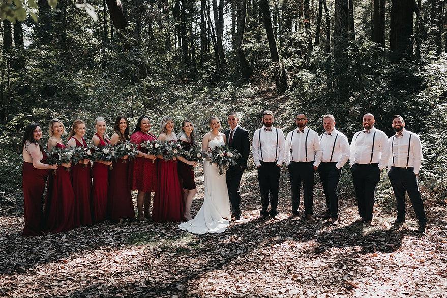 henrik ibsen park redwoods wedding portraits bridal party