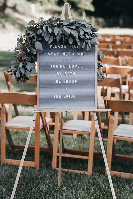 henrik ibsen park redwoods wedding sign for guests