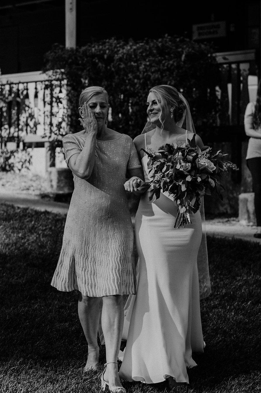 henrik ibsen park redwoods wedding mother of bride walking down aisle crying