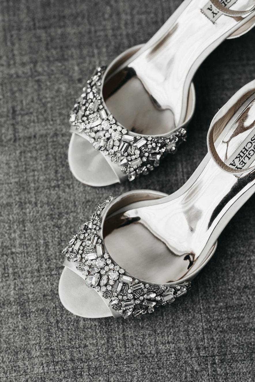 badgley mischka designer wedding shoes