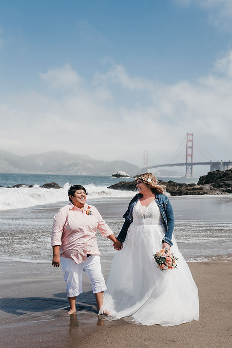 golden gate bridge elopement wedding
