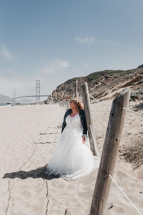 baker beach lesbian elopement