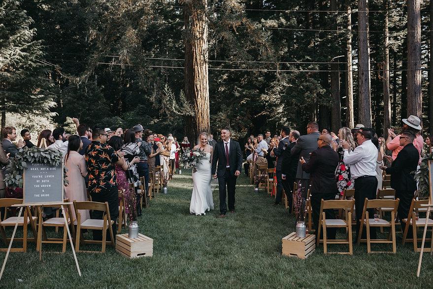 henrik ibsen park redwoods bride and groom