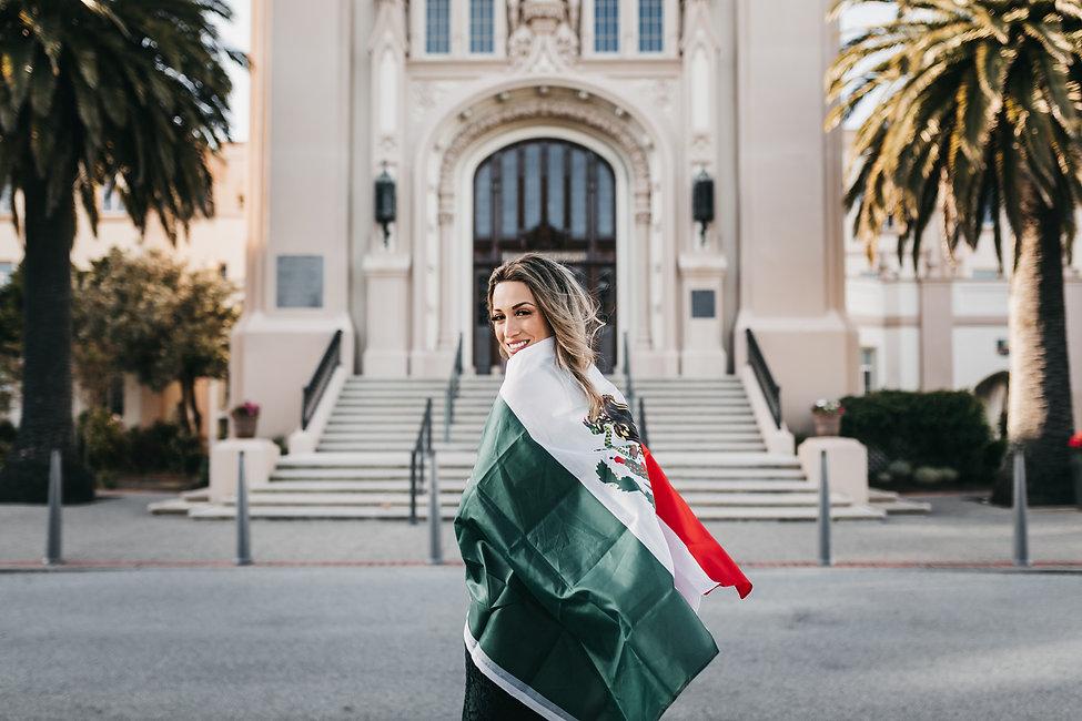 latina graduate mexico mexican flag