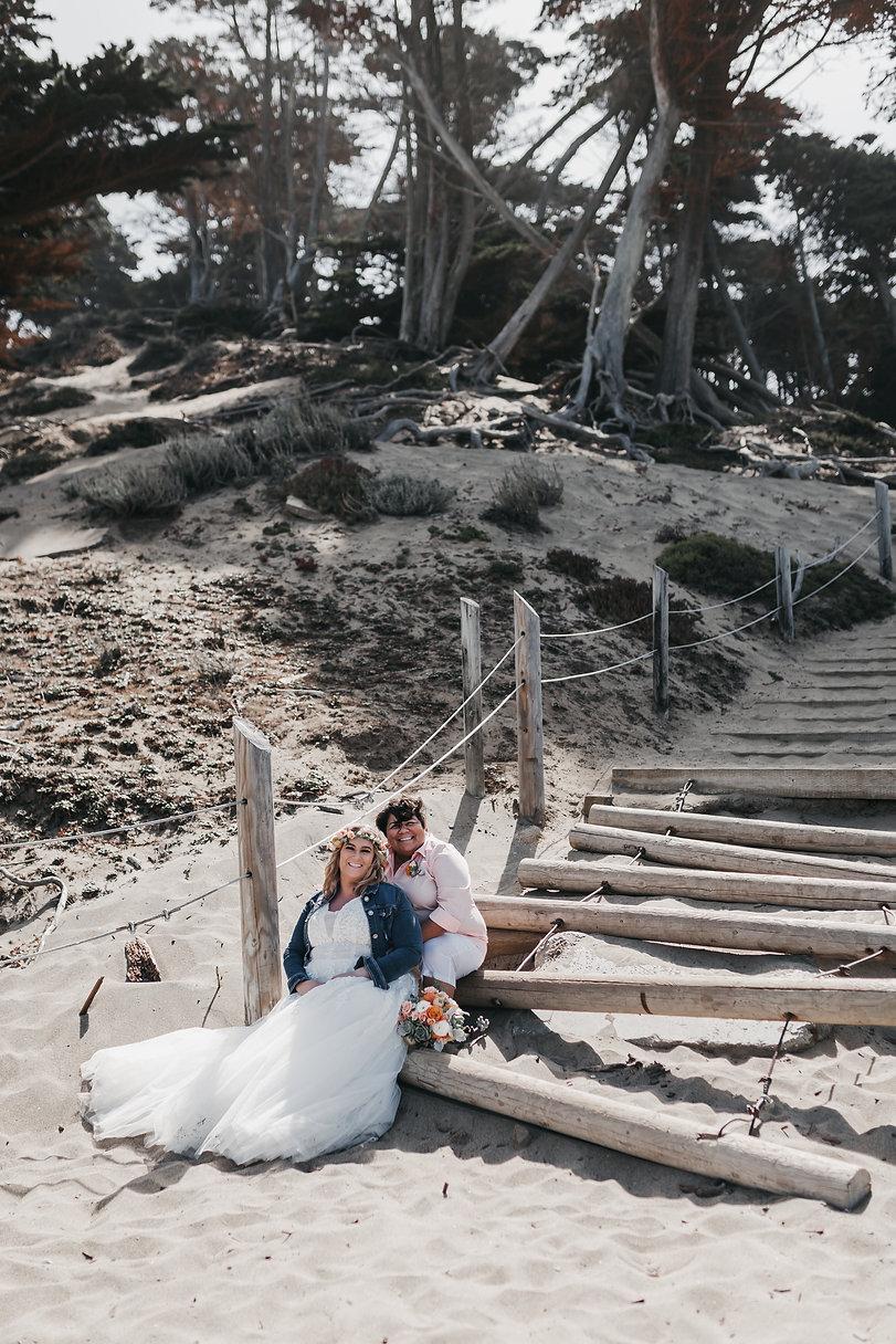 baker beach sand ladder elopement