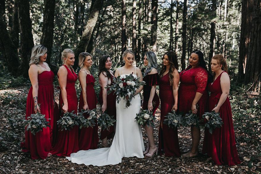 henrik ibsen park wedding bridesmaids portraits