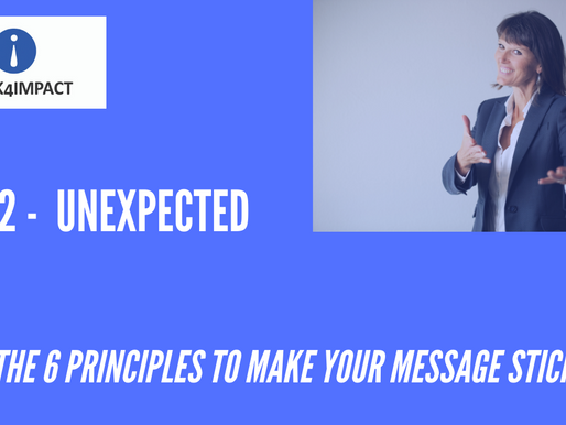 UNEXPECTED - The second of the six principles that make your message stick