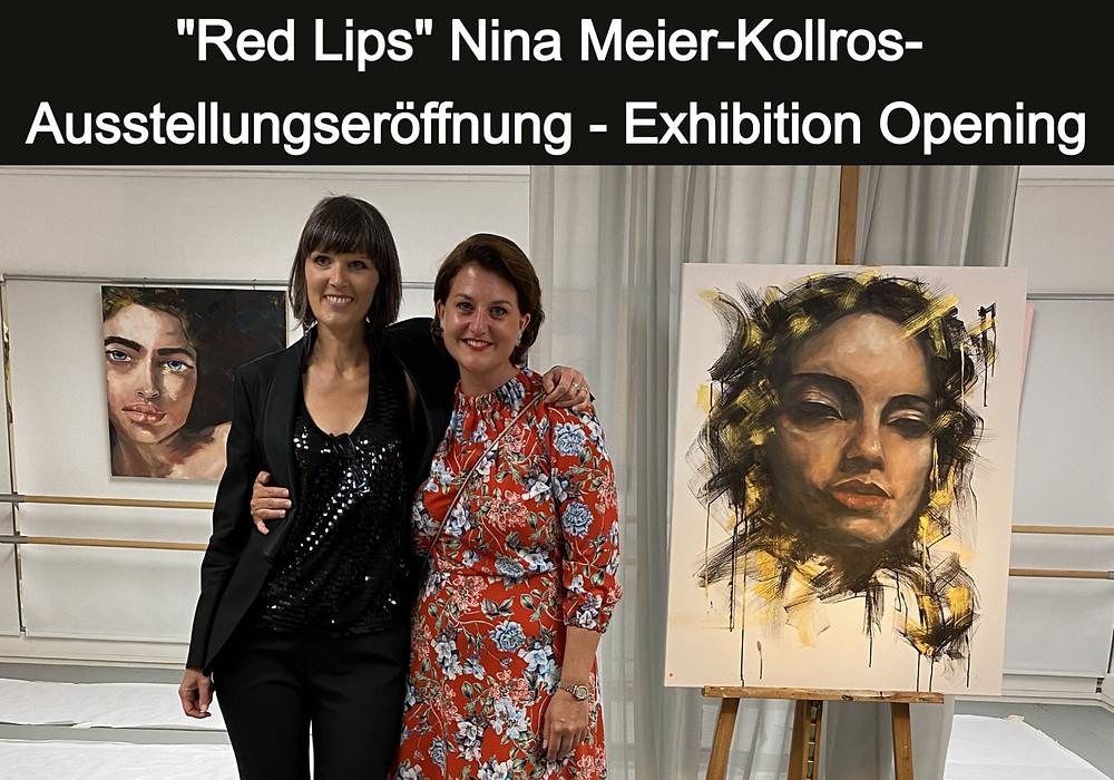 Cécile Bastien Remy and Nina Meier-Kollros at the vernissage - Art Point - Lachen (SZ) - Switzerland