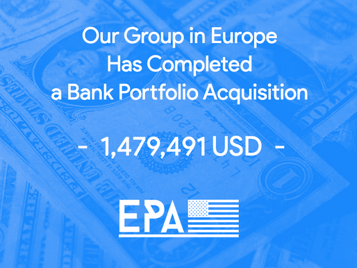 Our Group in Europe Has Completed a Bank Portfolio Acquisition