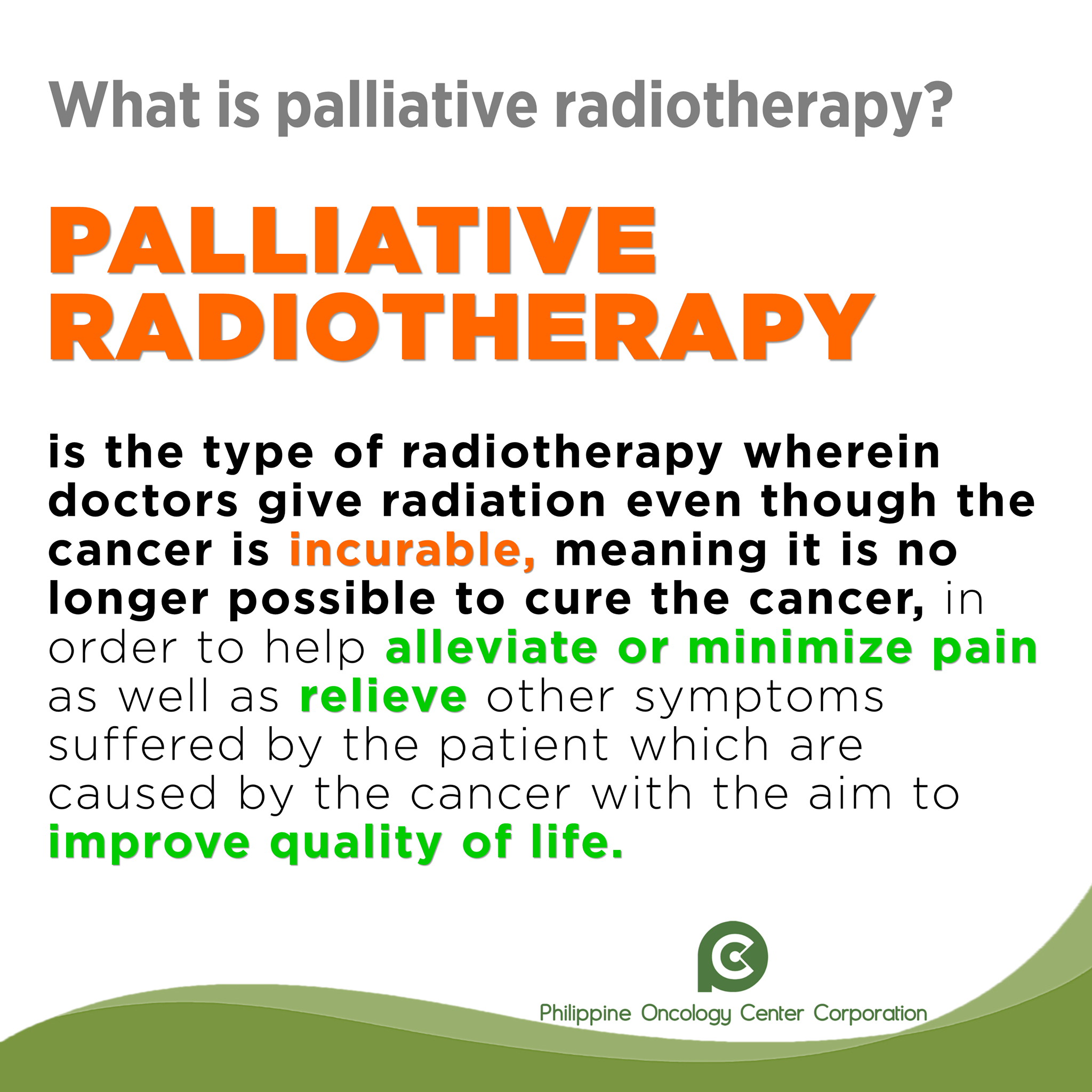 What is Palliative Radiotherapy?