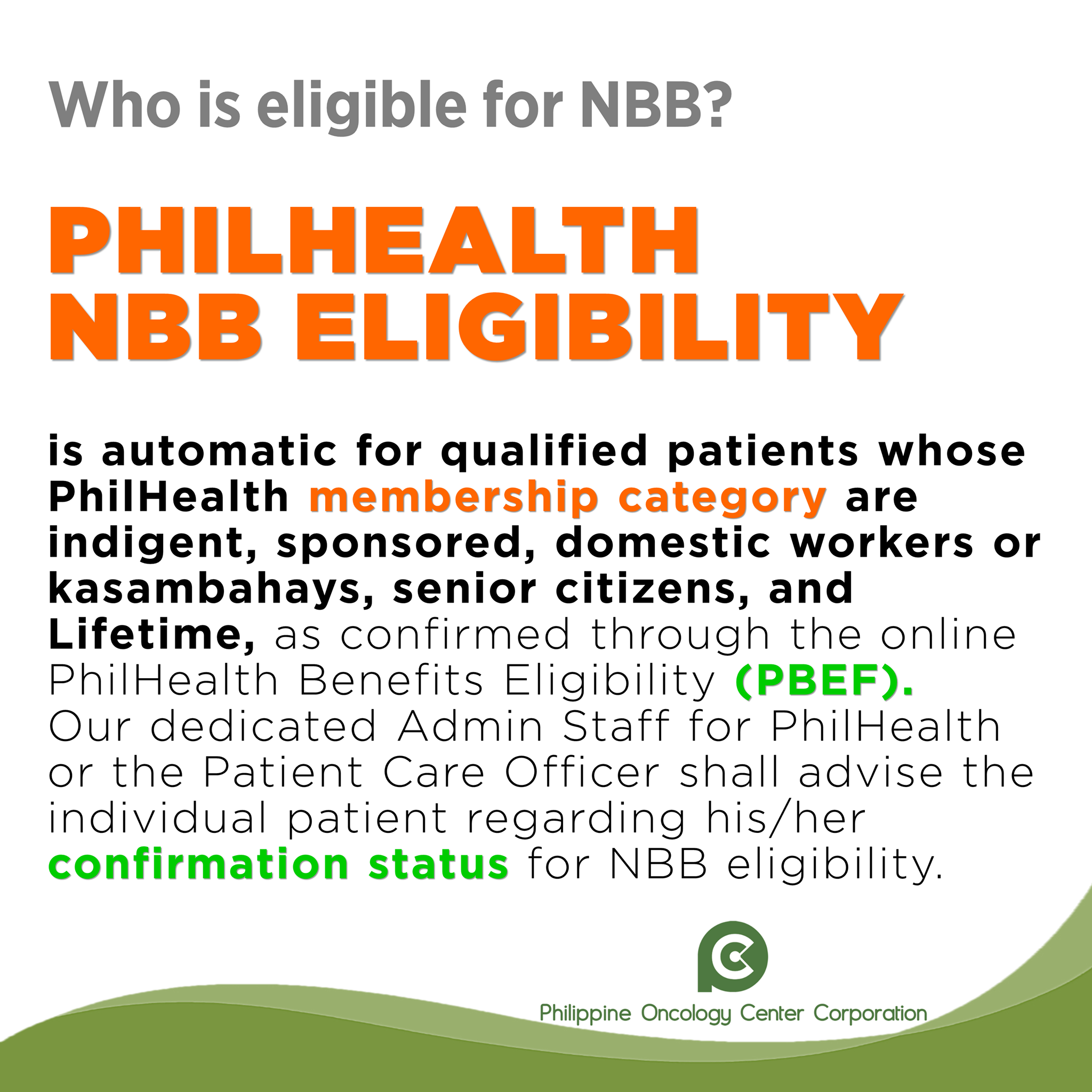 Who is Eligible for NBB?