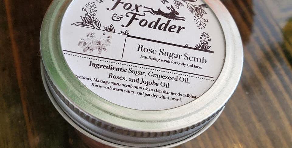 Fox & Fodder Rose Sugar Scrub
