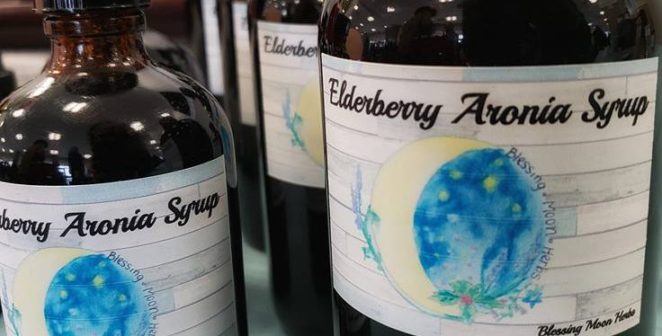 16oz Elderberry Aronia Syrup