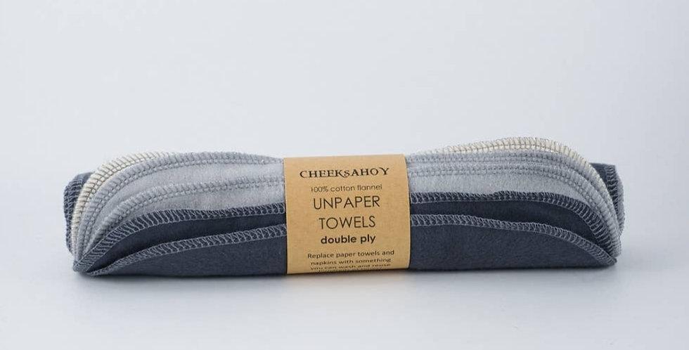 Double PlyUnpaper Towels-Charcoal