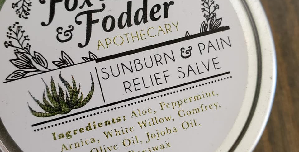 Fox & Fodder Sunburn Salve 4oz