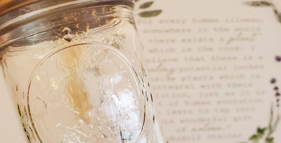 Half pint mason jar (8oz)