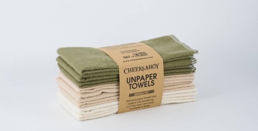 Single PlyUnpaper Towels -Olive