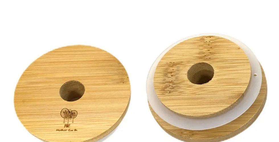 Bamboo Mason Jar Lids