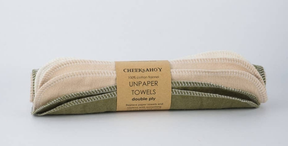 Double Ply Unpaper Towels- Olive