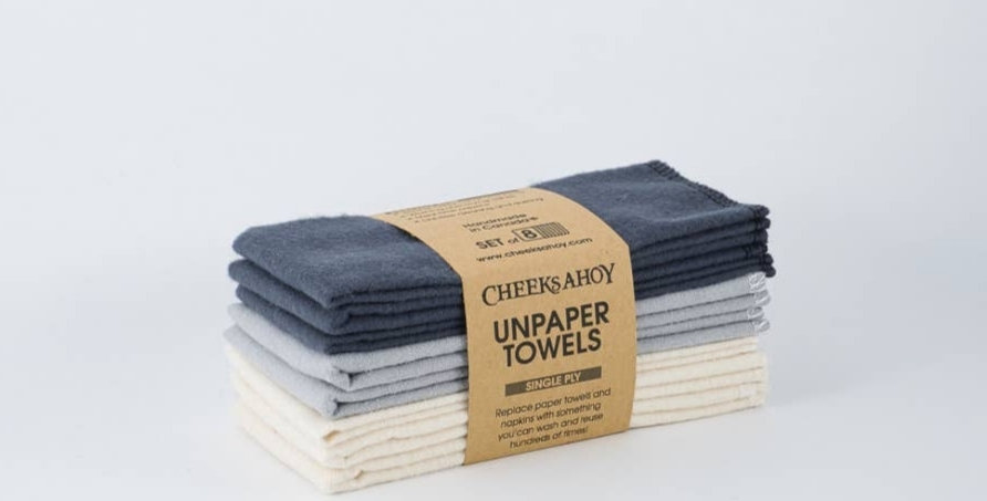 Single Ply Unpaper Towels-Charcoal