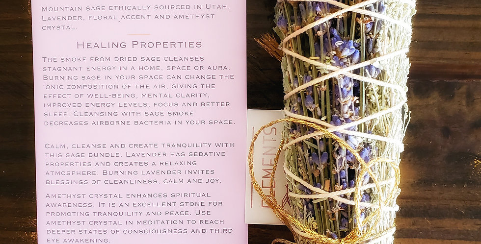 Elements of Sage Herb Bundles