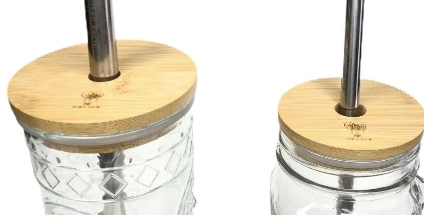 Wide Mouth Bamboo Mason Jar Lid