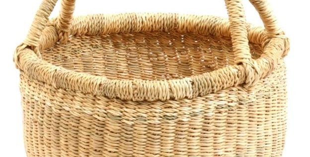 "Small Dye Free Bolga Basket |7""-9"""